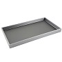 1 Inch Tall Standard Size Steel Grey Leatherette Jewelry Tray