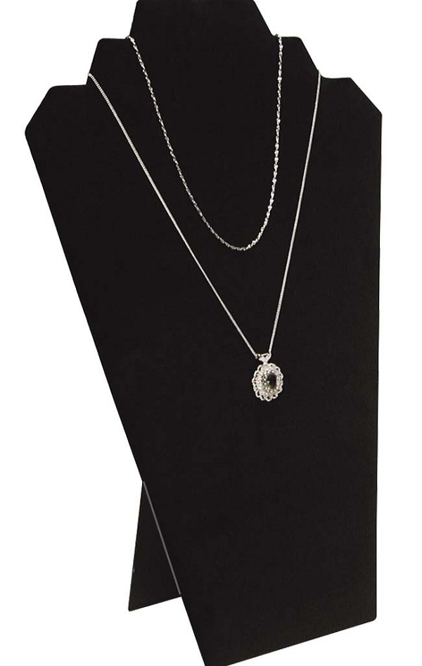 Necklace Display 2 Chains Black Velvet