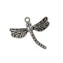 Dragonfly Charm 26x29mm Pewter Antique Silver Plated (1-Pc)