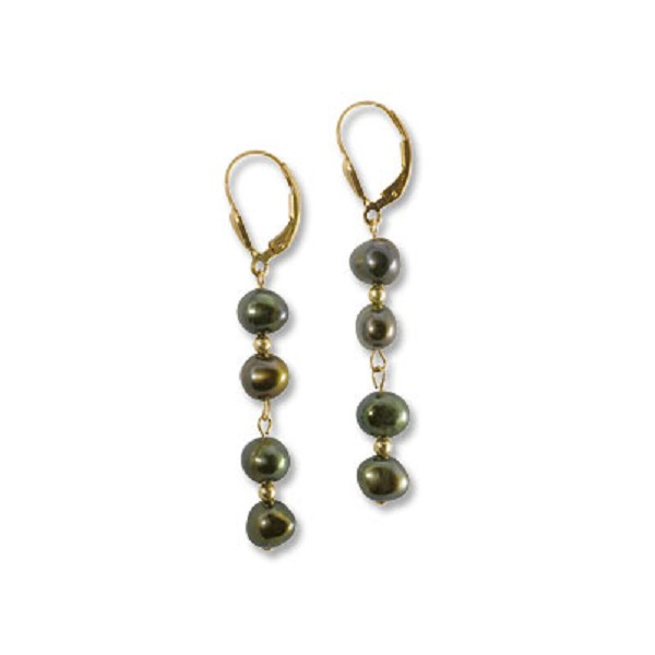 Olive Drop Earring Project