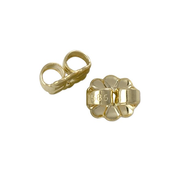 Ear Back Heavy Weight 14k Yellow Gold (1-Pc)