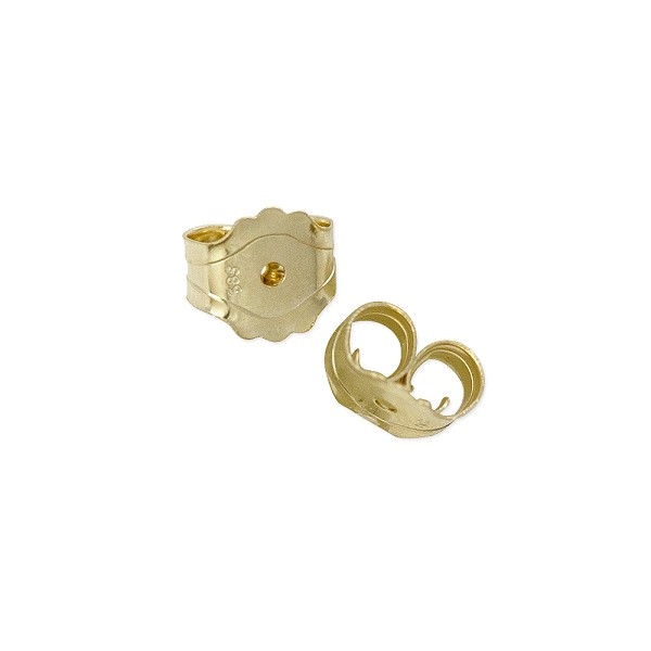 Ear Back Light Weight 14k Yellow Gold (1-Pc)