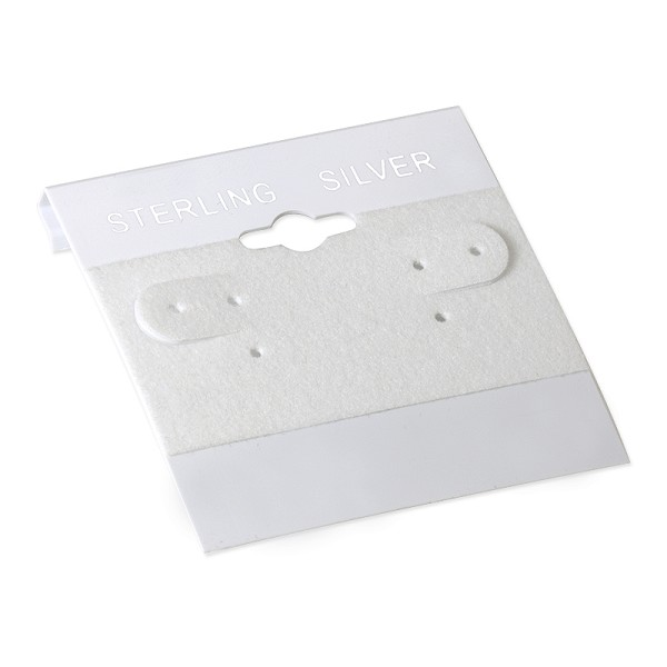 "Earring Card White ""Sterling Silver"" (100-Pcs)"