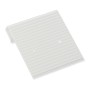 Hanging Earring Card  - White Ribbed Paper-Covered Plastic 1x1 (100-Pcs)