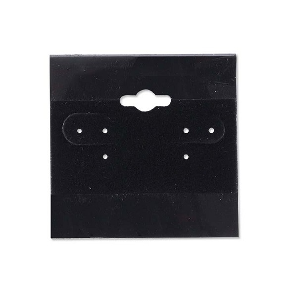 "Hanging Earring Cards Black 2""x2"" (100-Pcs)"