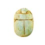 "Egyptian Scarab Pendant Bead 1-1/2"" x 1"" Green (10-Pcs)"