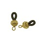 Eye Glass Holder with Bead 20mm x 6.5mm Gold Color (Package of 2)