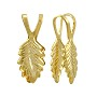 Glue On Leaf Bail 19x7mm Gold Plated (1-Pc)