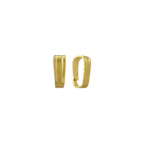 Snap On Bail 6x2mm Gold Plated (10-Pcs)