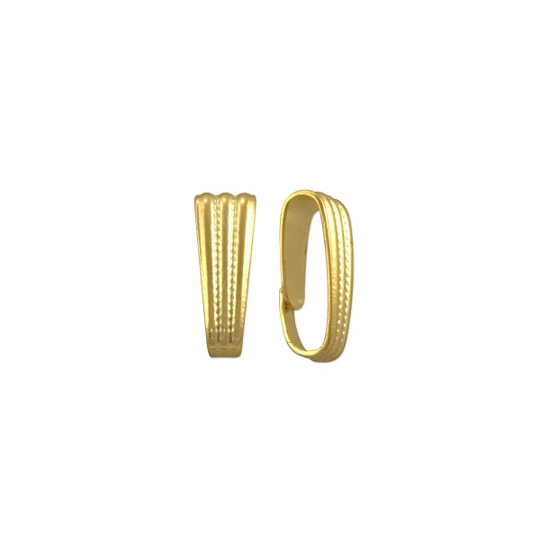 Snap On Bail 8x3mm Gold Plated (10-Pcs)
