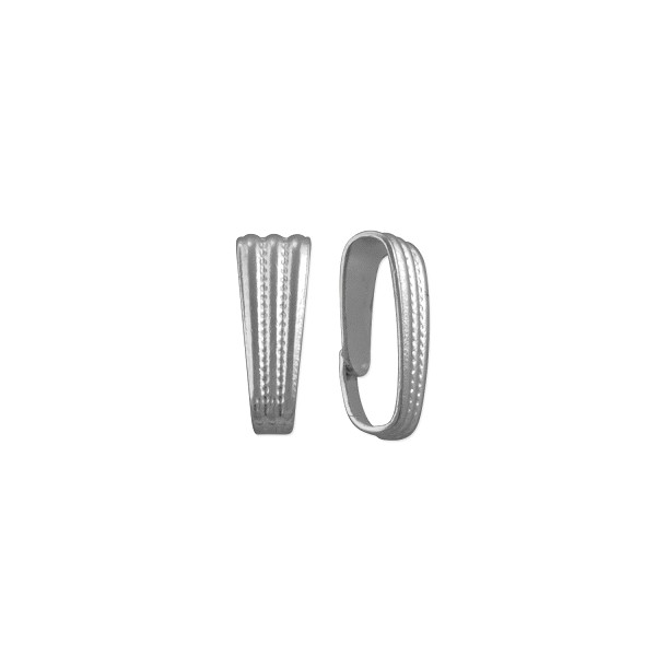 Snap On Bail 8x3mm Silver Color (10-Pcs)
