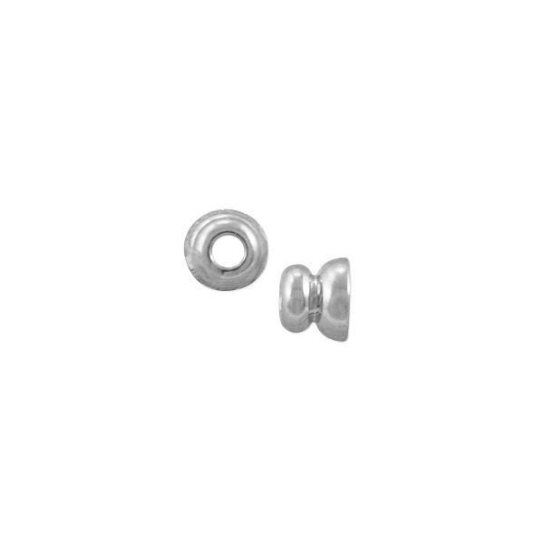 Bead Cap 3x3.5mm Silver Plated (2-Pcs)