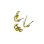 Clam Shell Bead Tip with Loop 7x3mm Gold Color (10-Pcs)