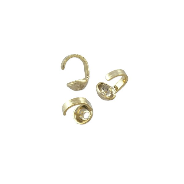 Bead Tip 5x3mm Gold Plated (20-Pcs)