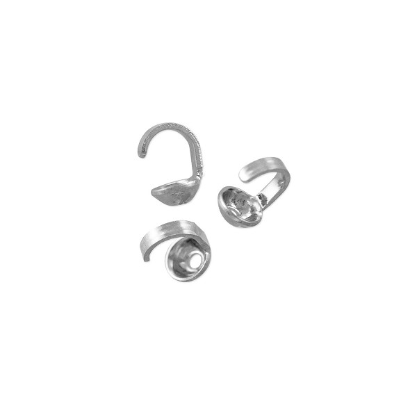 Bead Tip 5x3mm Silver Plated (20-Pcs)