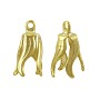 Bell Cap 15mm x 9mm Gold Plated (10-Pcs)