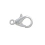 Lobster Claw Clasp 12.5x7mm Silver Plated (1-Pc)