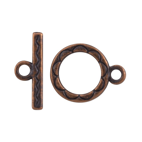 Toggle Clasp 15mm Antique Copper Plated (Set)