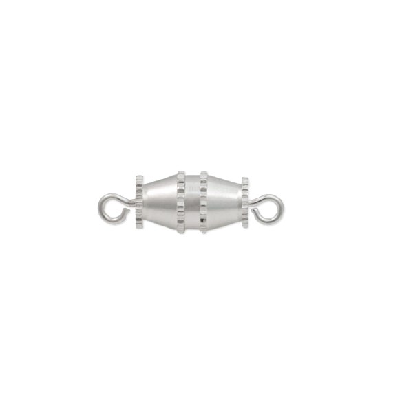 Barrel Clasp 15x10mm Silver Plated (1-Pc)
