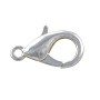 Lobster Claw Clasp 16x8mm Silver Plated (1-Pc)