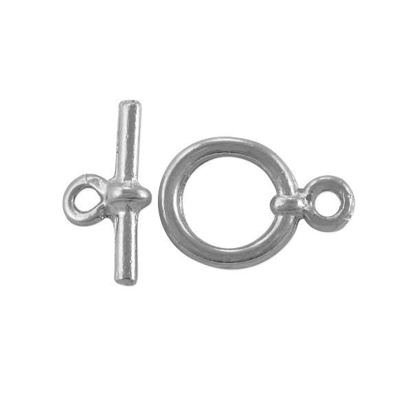Toggle Clasp 11mm Silver Plated (Set)