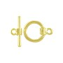Toggle Clasp 13mm Gold Plated (Set)