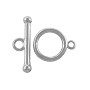 Toggle Clasp 14mm Silver Plated (Set)