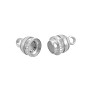 Magnetic Clasp 16x6mm Silver Plated (1-Pc)