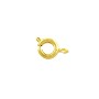 Spring Ring Clasp 6mm Gold Plated (10-Pcs)