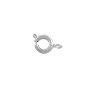 Spring Ring Clasp 6mm Silver Color (10-Pcs)