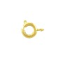 Spring Ring Clasp 7mm Gold Plated (10-Pcs)