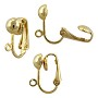 Clip-On Earring 16x13mm Gold Plated (2-Pcs)