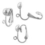Clip-On Earring 16x13mm Silver Color (2-Pcs)