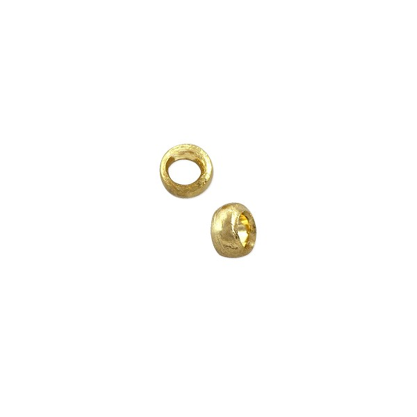 Crimp Bead 2x3mm Gold Plated (20-Pcs)