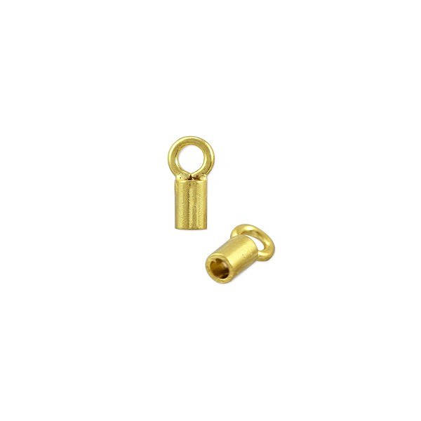 Crimp Tube Cord End 5.5x3mm Gold Plated (10-Pcs)
