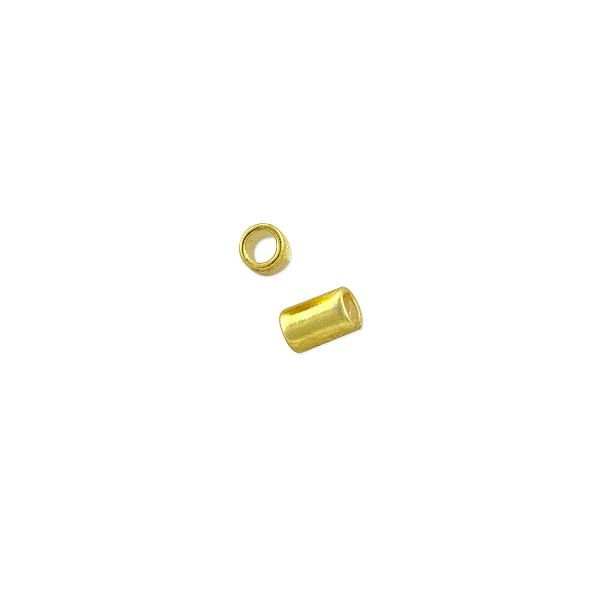 Stretch Cord Crimp Tube 3x2mm Gold Plated (80-Pcs)