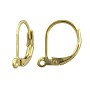 Lever Back Earring 18.5x12mm Matte Gold Plated (2-Pcs)