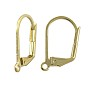 Lever Back Earring 16x12mm Gold Plated (2-Pcs)