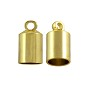 End Cap 12x7mm Gold Plated (2-Pcs)
