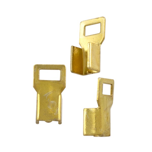 Fold Over Connector 11x6mm Gold Color (10-Pcs)