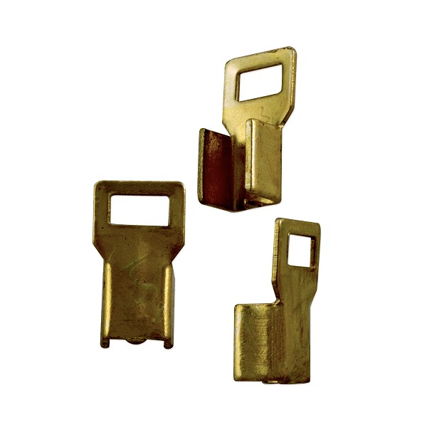 Fold Over Connector 11x6mm Antique Brass Plated (10-Pcs)