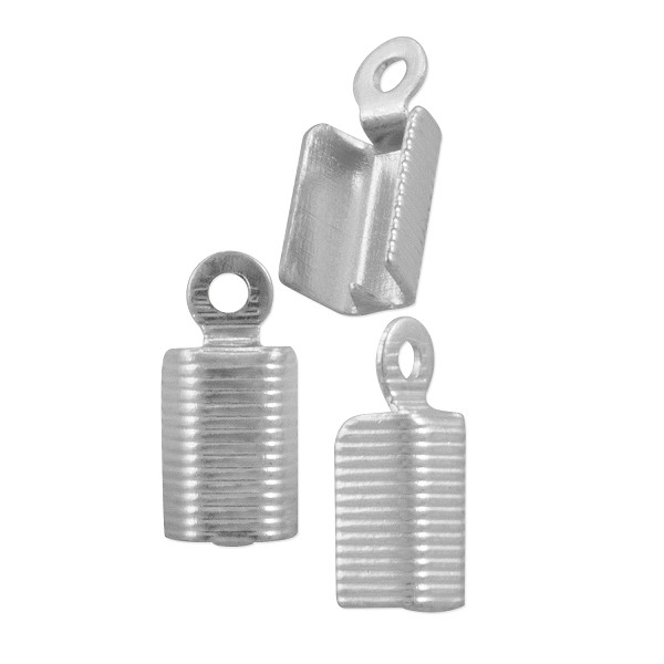 Corrugated Fold Over Connector 11x5mm Silver Plated (10-Pcs)