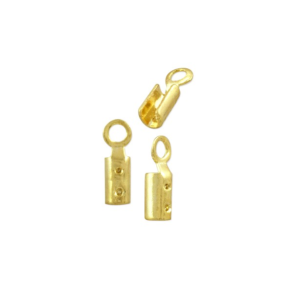 Fold Over Connector 7x2mm Gold Plated (4-Pcs)