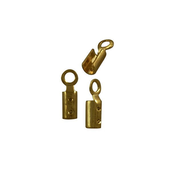 Fold Over Connector 7x2mm Antique Brass Plated (10-Pcs)