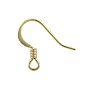 French Hook Ear Wire 15x16mm Gold Plated (10-Pcs)