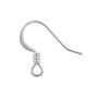 French Hook Ear Wire 15x16mm Silver Plated (10-Pcs)