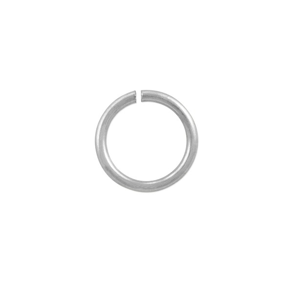 Open Round Jump Ring 8mm Silver Plated (50-Pcs)