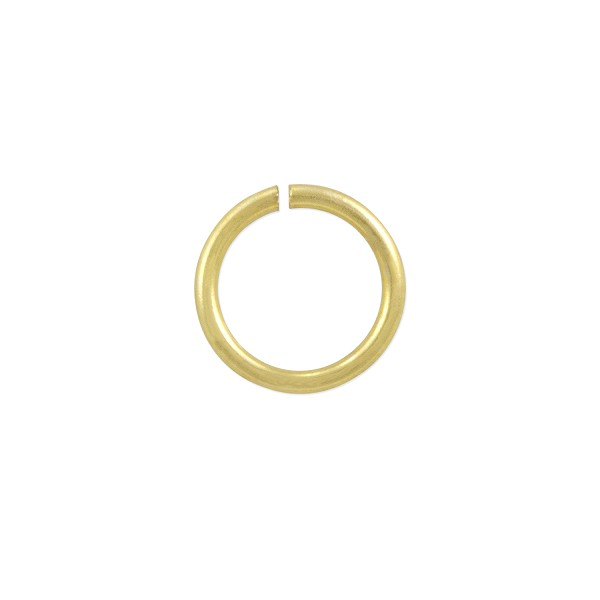 Open Round Jump Ring 7mm Satin Gold Plated (20-Pcs)