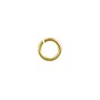Open Round Jump Ring 5.5mm Bright Gold Plated (100-Pcs)