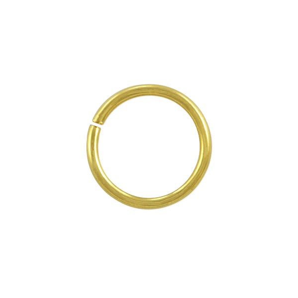 Open Round Jump Ring 10mm Gold Plated (50-Pcs)